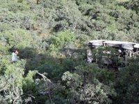 Ali Dağı'nda Minibüs şarampole yuvarlandı: 2 yaralı