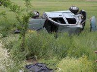 Kayseri'de Otomobil şarampole yuvarlandı: 2 ölü, 2 yaralı