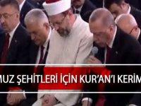 Başkan Erdoğan canlı yayında Kuran okudu!