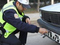 Kayseri'de 165 araç trafikten men edildi