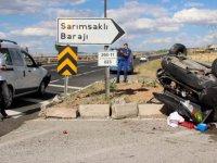 Kayseri-Sivas Yolu Otomobiller çarpıştı: 6 yaralı