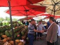 Başkan Palancıoğlu, pazar esnafıyla buluştu