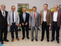 Belediye Başkanlarından ERÜ Rektörü Çalış'a Ziyaret