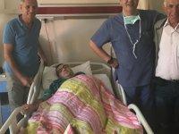 İstanbul'dan gelen oğlu ve torunu, Bünyan ilçesinde fıtık ameliyatı oldu