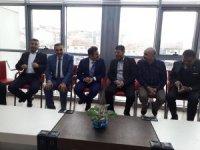 Mustafa Aksu'dan yeni Başkan Osman Turan'a Ziyaret