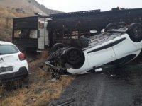 Yeşilhisar Araplı rapmasında kaza: 2 yaralı