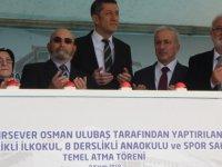 Bakan Selçuk Kayseri'de bir okulun temel atma törenine katıldı