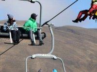 Erciyes'te Teleferikte Mahsur Kalan 8 Kişi Kurtarıldı