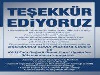 Kayseri Büyükşehir Belediye Başkanımız Çelik'e teşekkür ediyoruz