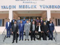 KAYÜ Rektörü Karamustafa, Pınarbaşı MYO'da İncelemelerde Bulundu