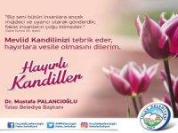 Talas Belediyesi Kandil mesajı