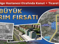Şehir Hastanesi karşısında 16 adet konut ve +ticaret alanı arsası satışa sunulacak