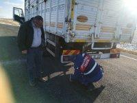 Kayseri Jandarma bin 203 ağır tonajlı araçtan 47'sinin sürücüsüne ceza yazdı