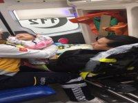 Kayseri'de Damla bebek uçak ambulansla İstanbul'a sevk edildi