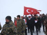 Erciyes Dağı'nda düzenlenen anma etkinliklerine akın etti