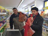 Baba Mirası Heybeyle Markette Alışveriş Yaptılar
