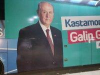 Erciyesspor'un Otobüsü Kastamonu'da MHP'nin hizmetine verildi