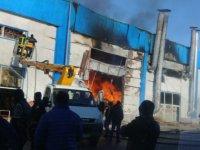 Oymaağaç'ta Mobilya fabrikasında korkutan yangın