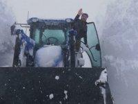 Kayseri'de Kar Kalınlığı 3.5 Metreye Ulaştı
