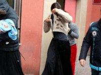 Her yerde aranan kadınlar Kayseri'de yakalandı
