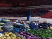 Aydınlıkevler Çorakçılar Mahallesi Muhtar adayı Derviş Doğan, Pazar esnafını ziyaret etti
