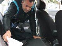 Kayseri'de Uygulamada araçlar didik didik arandı