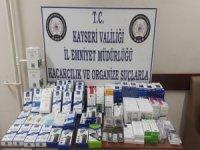 Kayseri'de Kaçak cep telefonu aksesuarları yakalandı