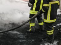 İncesu'da geri dönüşüm alanında çıkan yangın 3 saatte söndürüldü