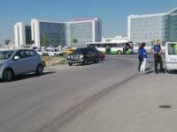 Kayseri şehir hastanesi önü trafik kazası 1 kişi yaralandı