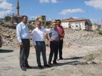 Hacılar'da büyük dönüşümde yeni konutlar için yıkım tamamlandı