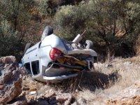 Yahyalı'da otomobil dere yatağına uçtu: 5 yaralı