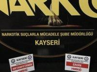 Kayseri'de uyuşturucu operasyonu 2 gözaltı