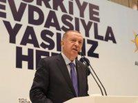 Erdoğan, Kayseri'de AK Parti İl Başkanlığı Teşkilat Buluşmasına katıldı
