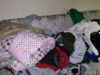 Kayseri'de 3 çocuklu anne kirayı veremediği için Ev sahibi dışarıya attı