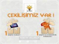 Ak Parti Kocasinan ilçe başkanı Okandan'dan tablet ve forma