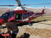 Sarız'da kalp krizi geçiren hastanın imdadına hava ambulansı yetişti