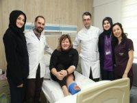 Erciyes'te sakatlanan Ukraynalı Oksana,System Hospital doktorlara hayran kaldı