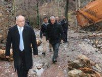 Başkan Öztürk,sel felaketinin yaşandığı Büyükçakır, Kapuzbaşı ve Ulupınar'da incelemelerde bulundu