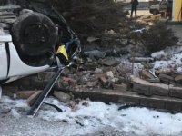Germir Mahallesinde araç böyle takla attı
