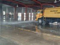 Melikgazi'de Semt pazar yerleri dezenfekte ediliyor