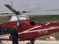 Hava ambulansı Felahiye'de Apandisi patlayan hasta için havalandı