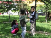 Kayseri'de Çocuklar parkların tadını çıkardı