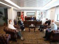 Kayserispor Kulüp Başkanı Berna Gözbaşı,Başkan Palancıoğlu'nu ziyaret etti