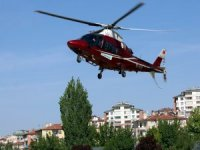 Yahyalı'da Felç geçiren hasta hava ambulansı ile hastaneye kaldırıldı