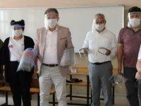 Ahi Evran Meslek Lisesi 6 ilin dezenfektan ihtiyacını karşılıyor